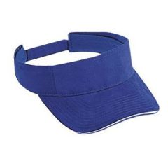 OTTO Superior Brushed Cotton Twill Sandwich Visor Sun Visor