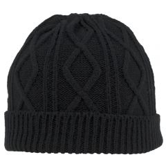 OTTO Soft Acrylic Cable Knit Fold Beanie
