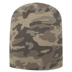 """OTTO Camouflage Polyester Jersey Knit Beanie 9 1/2"""""""