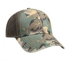 OTTO Camouflage Garment Washed Cotton Twill Heavy Washed PU Coated Back Low Profile Style Cap