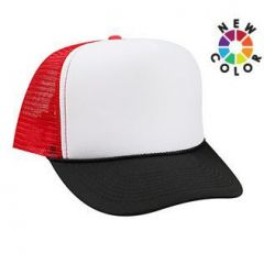 OTTO Polyester Foam Front High Crown Golf Style Mesh Back Cap