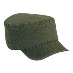OTTO Superior Garment Washed Cotton Twill Flexible Soft Visor Military Style Cap