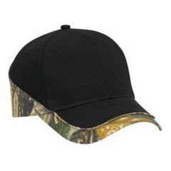 OTTO Camouflage Piping Design Brushed Cotton Twill Low Profile Style Cap