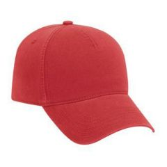 OTTO Ultra Soft Superior Garment Washed Brushed Cotton Twill Five Panel Low Profile Style Cap