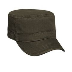 OTTO Superior Garment Washed Cotton Twill with Binding Trim Visor Military Style Cap