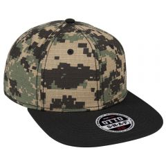 OTTO Digital Camouflage Cotton Ripstop Square Flat Visor 6 Panel Pro Style Snapback