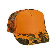 OTTO Camouflage Polyester Foam Front High Crown Golf Style Mesh Back Cap