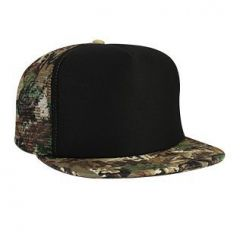 OTTO Polyester Foam Front Camouflage Flat Visor High Crown Golf Style Mesh Back Cap
