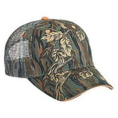OTTO Camouflage Cotton Twill Sandwich Visor Low Profile Style Mesh Back Cap
