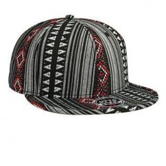 OTTO Aztec Pattern Polyester Jacquard Flat Visor with Binding Trim Pro Style Snapback Cap