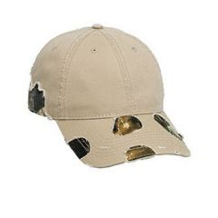 OTTO Camouflage Distressed Superior Garment Washed Cotton Twill Low Profile Style Cap