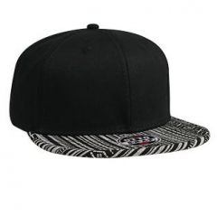 OTTO Superior Cotton Twill Aztec Pattern Cotton Jacquard Flat Visor with Binding Trim Pro Style Snapback