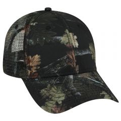 OTTO Camouflage Superior Polyester Twill Low Profile Style Mesh Back Cap