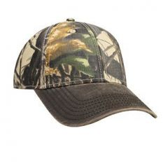 OTTO Camouflage Garment Washed Cotton Twill with Heavy Washed PU Coated Visor Low Profile Style Cap