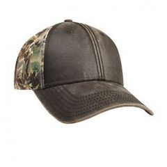 OTTO Camouflage Garment Washed Cotton Twill with Garment Washed PU Coated Cotton Blend Canvas Low Profile Style Cap