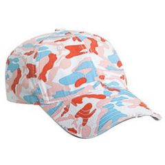 OTTO Camouflage Superior Garment Washed Cotton Twill Distressed Visor