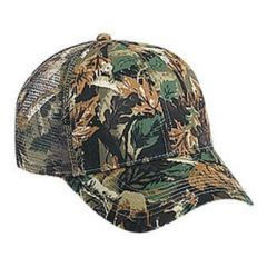 OTTO Camouflage Cotton Twill Low Profile Style Mesh Back Cap